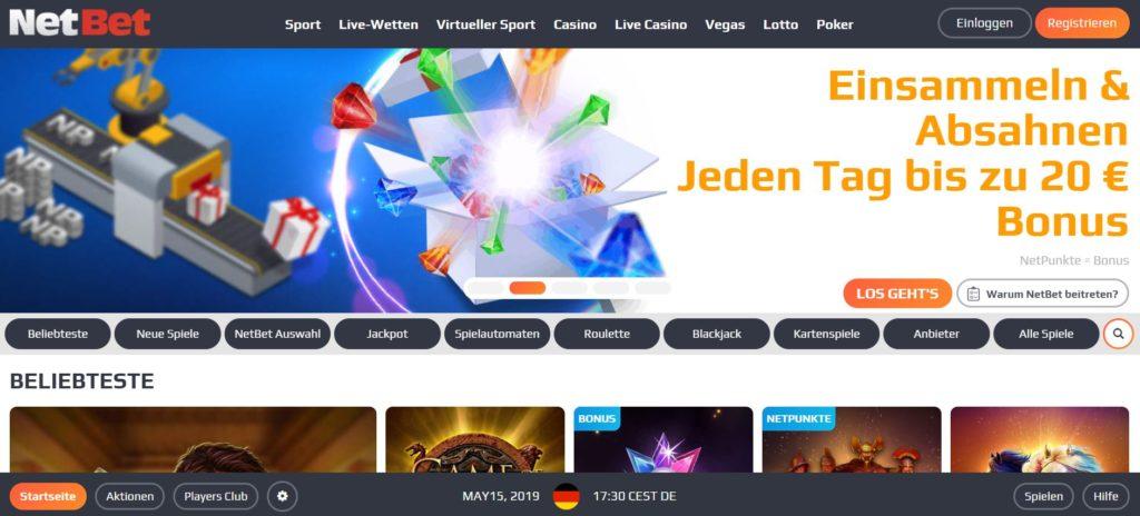 NetBet Casino Vorschau